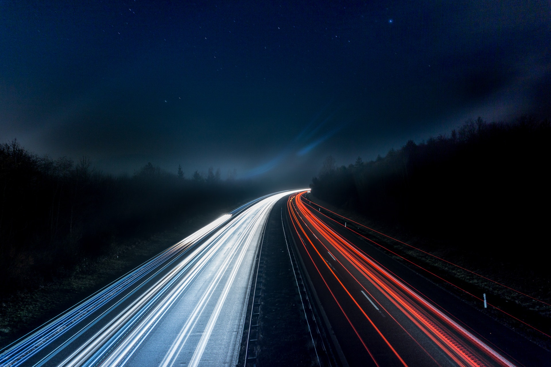 light-trails-on-highway-at-night-315938